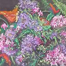 Bouquet (pastel) by Niki Hilsabeck
