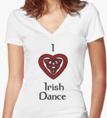 I love Irish Dance! Women's Fitted V-Neck T-Shirt