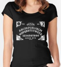 Ouija-White Women's Fitted Scoop T-Shirt