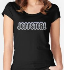 Jeffster tribute band from Chuck TV show Women's Fitted Scoop T-Shirt