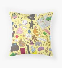 Boosh pattern Throw Pillow