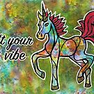 Lift Your Vibe. Magical Unicorn Watercolor Artwork. by mellierosetest