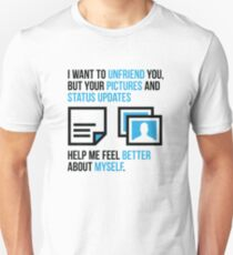 Social networks increase my self-confidence T-Shirt
