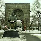 Statue of Nikola Tesla at Niagara Falls, New York by Susan Russell