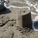 Heart Sandcastle by David W Bailey
