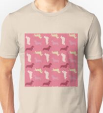 """Raspberry"" Dachshund Pattern T-Shirt"