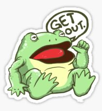 GET OUT. Something Awful Frog Sticker