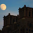 Moon in the Blue Hour by Don Rankin