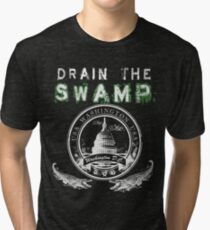 Drain the Swamp Pro Trump Apparel Tri-blend T-Shirt