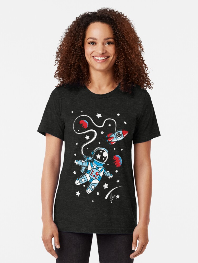 Alternate view of Space Walk Tri-blend T-Shirt