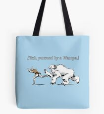 William Shakespeare's Star Wars: Exit, pursued by Wampa Tote Bag