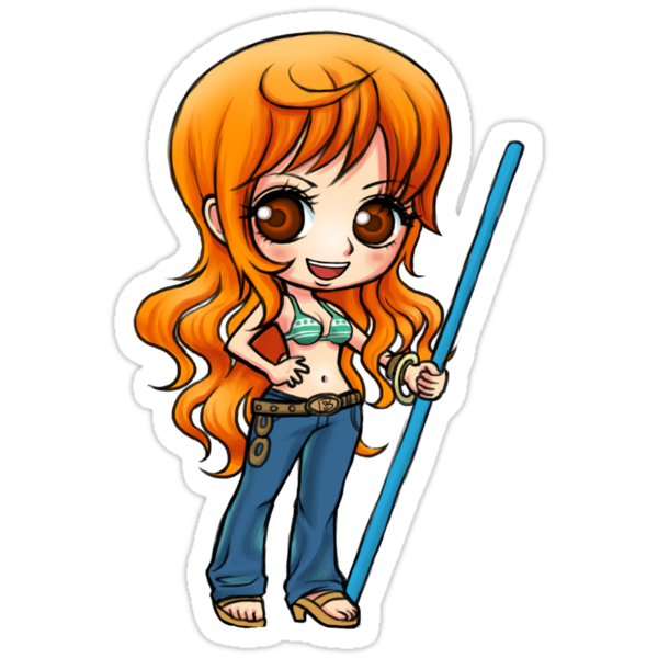 Nami one piece stickers by studiomarimo redbubble sizing information publicscrutiny Image collections