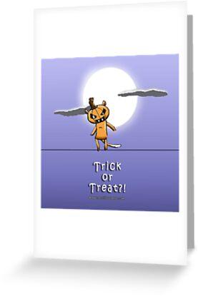 Trick or Treat?  Ringo the Ringtail Possum Halloween. by eddcross