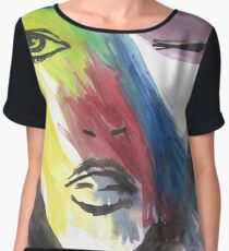 Cara (Face) Women's Chiffon Top