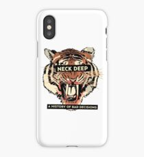 A History of Bad Decisions - Neck Deep iPhone Case