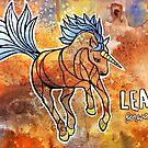Leap Forward. Magical Unicorn Watercolor Illustration. by mellierosetest
