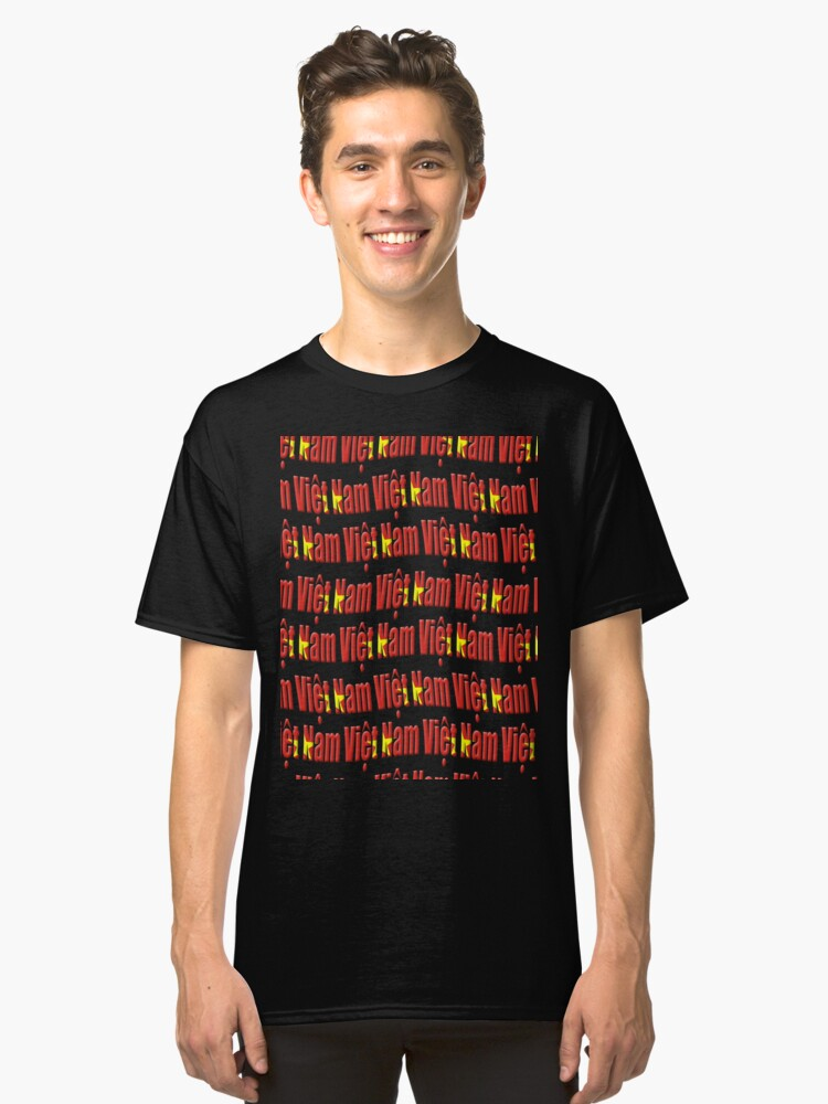 Vietnam Flag Viet Nam Tiled Repeated Design T Shirt By Stuwdamdorp