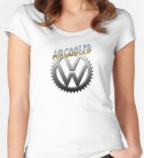 VW GEAR Aircooled 0002 Women's Fitted Scoop T-Shirt