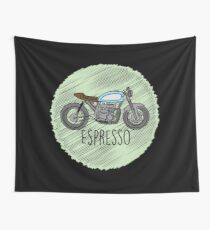 Espresso - Cafe Racer Wall Tapestry