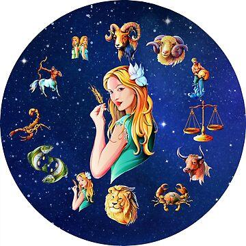 Virgo Clock Star Signs Horoscope by Gotcha29
