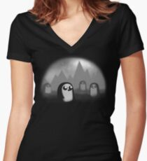 Evil Penguin Women's Fitted V-Neck T-Shirt