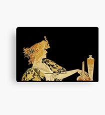Nouveau Woman with Paintbrush  Canvas Print