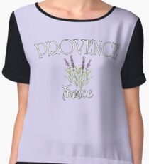 PROVENCE FRANCE with Lavender Women's Chiffon Top