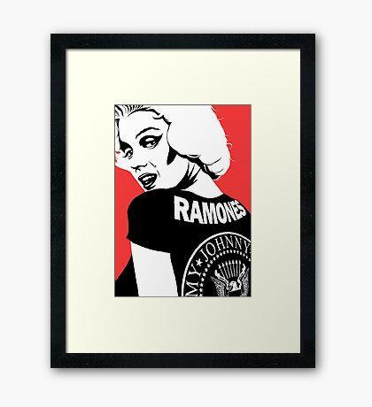 Punk Pin-Up Framed Print
