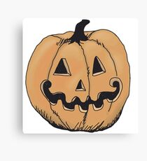 orange jack-o-lantern Canvas Print