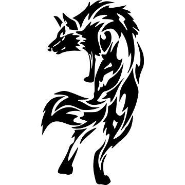 Tribal wolf by porigar