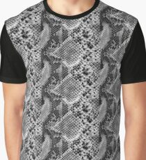 Black and grey snakeskin Graphic T-Shirt