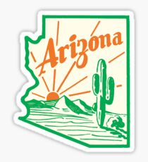 Arizona Cactus Vintage Travel Decal Sticker