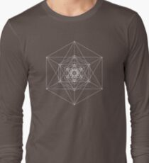 Metatron Cube Expanded Long Sleeve T-Shirt