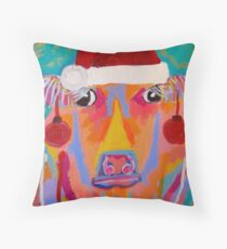 Christmas Cow Throw Pillow