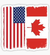 American Canadian Sticker