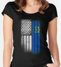USA Vintage Nevada State Flag Women's Fitted Scoop T-Shirt
