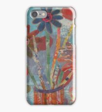 Flowers in a Blue Vase iPhone Case/Skin