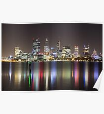 Perth Skyline By Night Poster