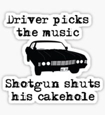 Driver picks the music Sticker