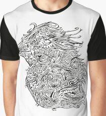 Birds - Tattoo Black and White Graphic T-Shirt