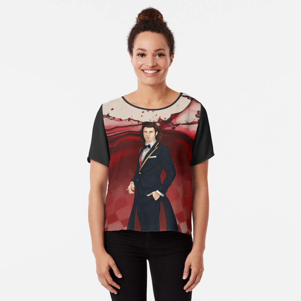 Fausto - Voyager Sorcerer of Alternatives Chiffon Top