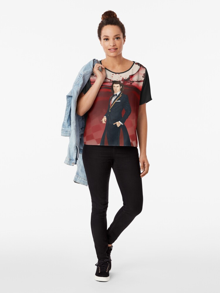 Alternate view of Fausto - Voyager Sorcerer of Alternatives Chiffon Top