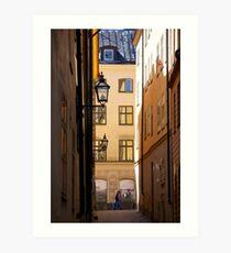 Backstreets Gamlastan, Stockholm Art Print