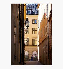 Backstreets Gamlastan, Stockholm Photographic Print
