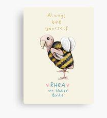 Rhea - Always Bee Yourself Canvas Print