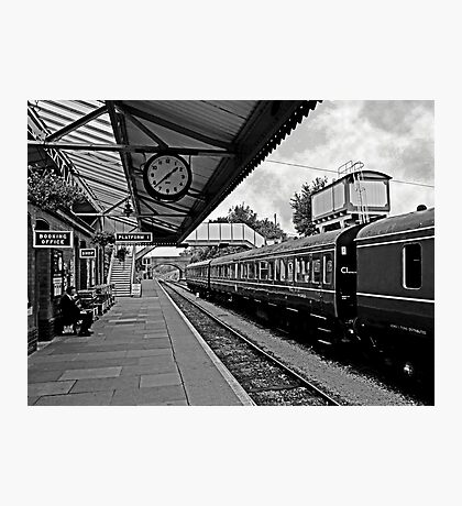 Toddington Railway Station (B&W)  Photographic Print