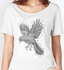 Birds - Black and White Tattoo Women's Relaxed Fit T-Shirt