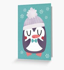 Cute Cozy Penguin Greeting Card
