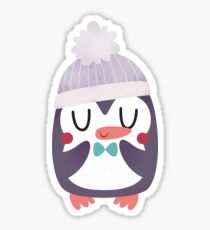 Cute Cozy Penguin Sticker