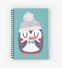 Cute Cozy Penguin Spiral Notebook